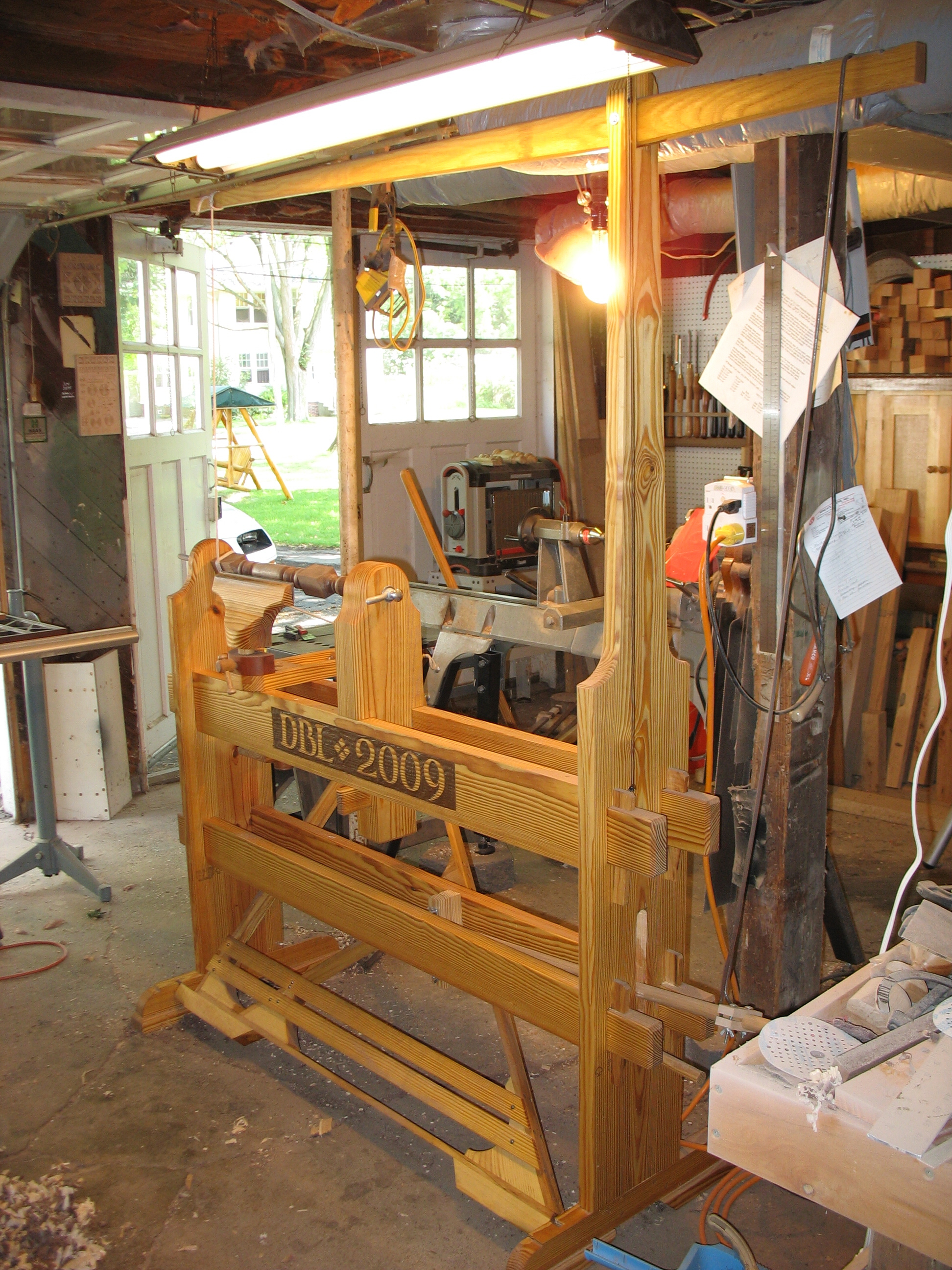 Spring pole lathe details | A Woodworker's Musings