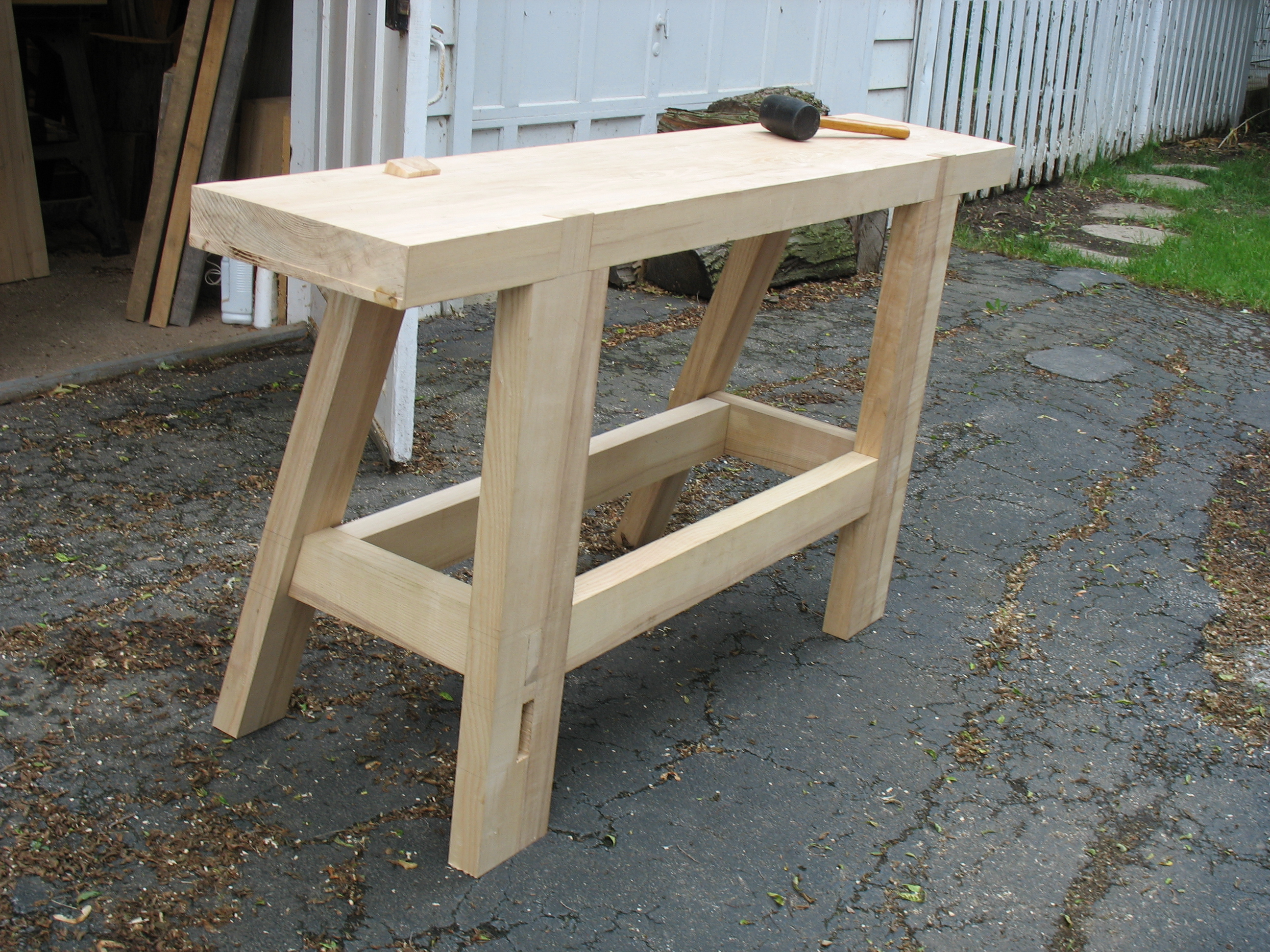 top in place - one single piece of hand-planed ash