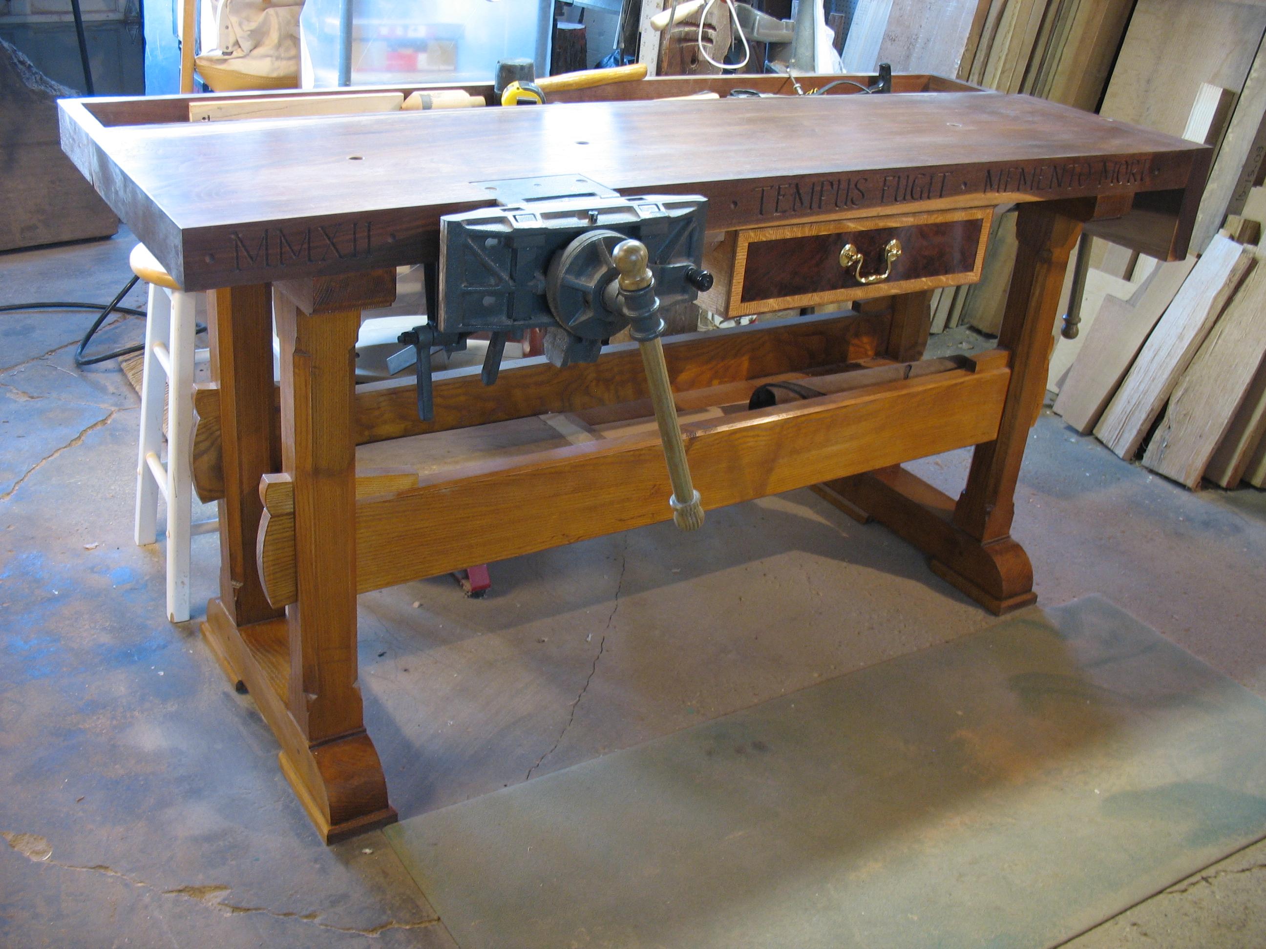 Walnut Pattern Makers Workbench Gallery A Woodworker S