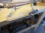 Ploughing out the table clip grooves with a small Record plough plane