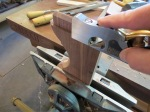 lowering the back shoulder of the tenon