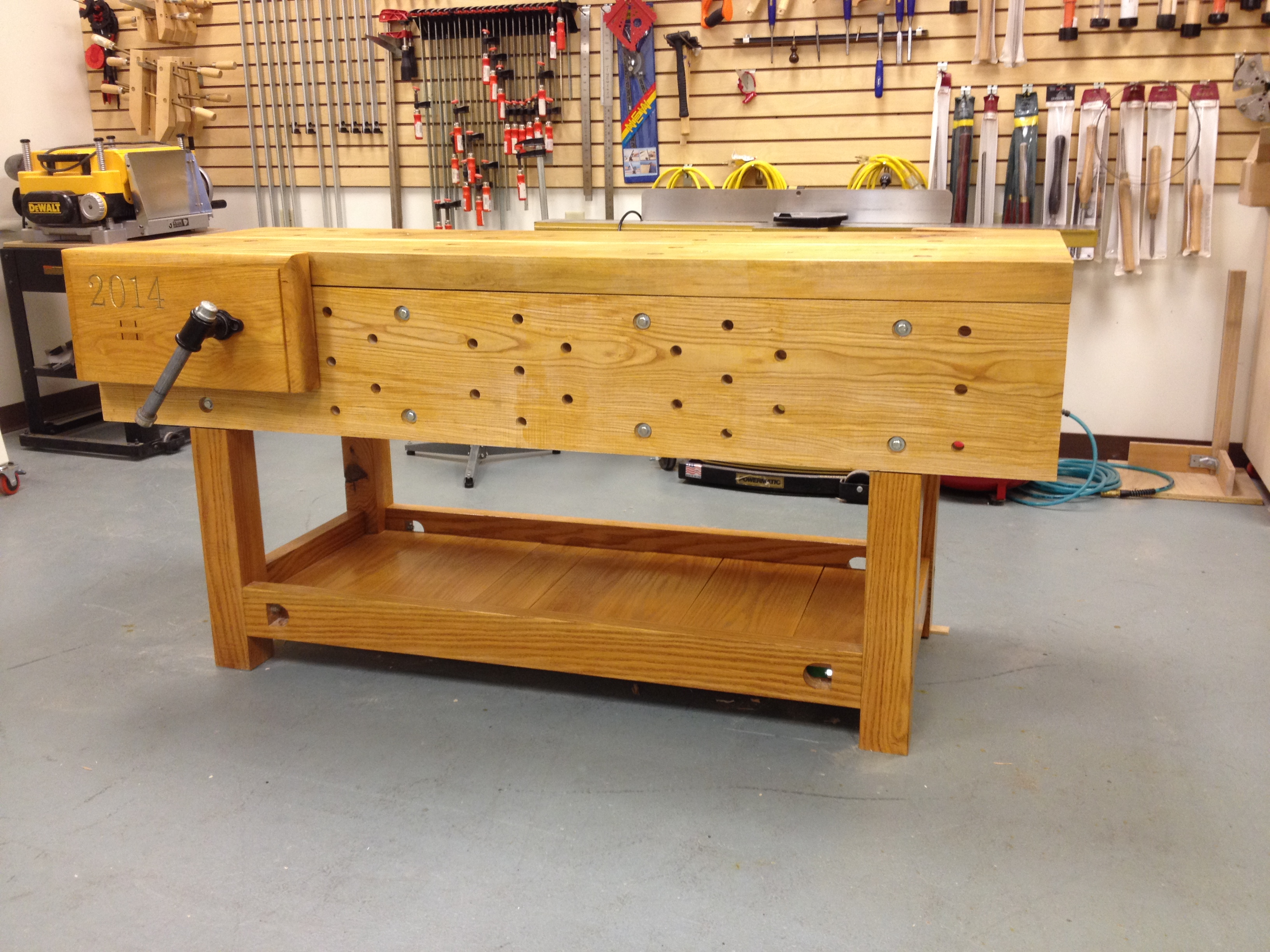 Nicholson Bench Project – Shellac on a workbench? | A ...
