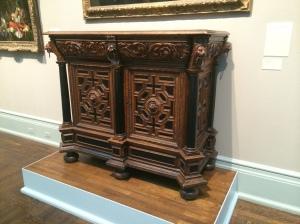 Walnut and Ebony cupboard - southern Netherlands - 1600-1650