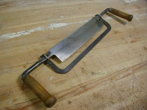 "A ""mast maker's"" draw knife with a thicknessing gauge bar"