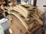 A pile of Chippendale dining chairs