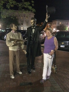 We felt compelled to ask Abe what he thought about the current state of affairs. Unfortunately, he chose not to voice anopinion.